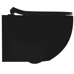 Унитаз подвесной AXA Glomp Norim безободковый, черный (0201007)