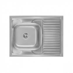 Кухонная мойка Imperial 5080-L 0,8 decor из нержавеющей стали (10108)
