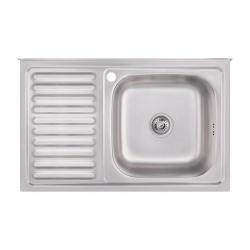 Кухонная мойка Imperial 5080-R 0,8 decor из нержавеющей стали (10109)