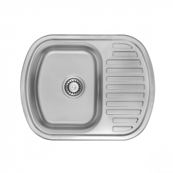 Кухонная мойка из нержавеющей стали ULA 7704 ZS 6349 Decor 0,8mm (12012)
