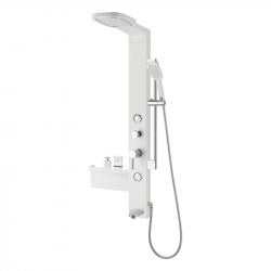 Душевая панель Qtap 1114 WHI белый/хром