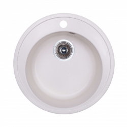 Кухонная мойка Fosto D510 SGA-203, белая (13994)