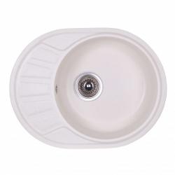 Кухонная мойка Fosto 58x45 SGA-203, белая (13995)