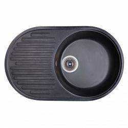 Мойка Fosto 74x46 SGA-420, черный (14020)