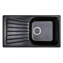 Кухонная мойка FOSTO 81х46 SGA-420 черная (14024)