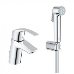 Смеситель для раковины с гигиеническим душем Grohe Eurosmart (23124002)
