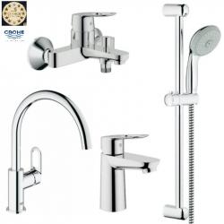 Набор смесителей для ванны + кухонный Grohe BauLoop (123225K)