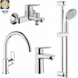 Набор смесителей для ванны + кухня Grohe BauLoop (123225K)