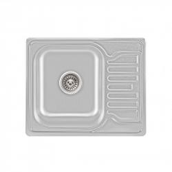 Мойка кухонная Lidz 5848 0.8мм Satin из нержавеющей стали