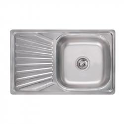 Кухонная Мойка Lidz 7848 0.8мм Satin из нержавеющей стали