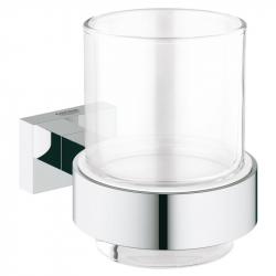 Стакан с держателем Grohe Essentials Cube (40755001)