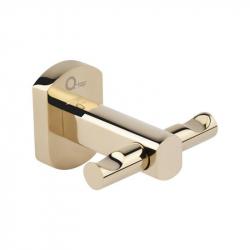 Крючок двойной настенный Qtap Liberty ORO 1154 золото