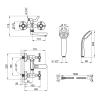 Смеситель для ванны Q-Tap Liberty ANT 140-2