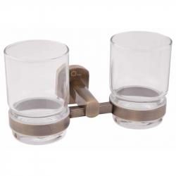 Двойной стакан настенный Q-Tap QT Liberty ANT 1155 (25602)