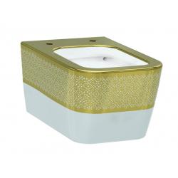 Чаша подвесного унитаза IDEVIT Halley белый/декор золото 3204-2616-1101