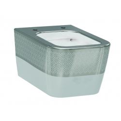 Чаша подвесного унитаза IDEVIT Halley белый/декор серебро 3204-2616-1201
