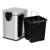 Ведро для мусора Lidz 6л (CRM) 121.11.06