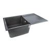 Кухонная мойка Lidz (BLA-03) 790x495/230 черная (33697)
