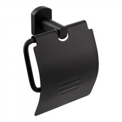Держатель туалетной бумаги с крышкой Qtap Liberty BLM 1151, черный