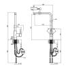 Смеситель для кухни Lidz (NKS) 12 32 015FL-13