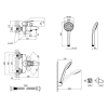Смеситель для ванны Lidz (CRM) 44 80 006-1