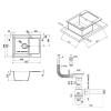 Кухонная мойка Lidz (COL-06) 625x500/200 бежевая