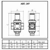 Редуктор давления резьбовой Icma 247 3/4 (91247AE06)