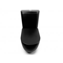 Унитаз-компакт напольный NEWARC Modern Rimless черный глянец 3822B NEW