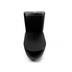 Унитаз-компакт напольный NEWARC Modern Rimless черный глянец (3822B NEW)