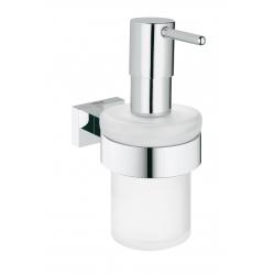 Дозатор жидкого мыла Grohe Essentials Cube (40756001) с держателем