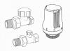 """Набор термостатический прямой DE LUXE (хром), 1/2""""  Royal Thermo (НС-1073849)"""