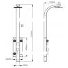 Душевая панель Q-Tap 1102 SIL (9650)