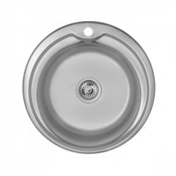 Кухонная мойка Imperial 490-A 0,8 180мм satin из нержавеющей стали (7846)