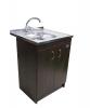 Кухонная мойка Imperial 6060-L 0,6 160мм polish из нержавеющей стали на тумбу (9140)