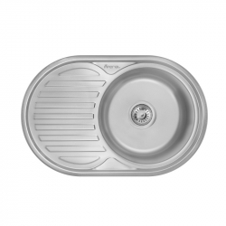 Кухонна мийка Imperial 7750 0,6 160мм polish з нержавіючої сталі (9112)