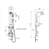 Душевая панель Qtap 1102 WHI белый / хром