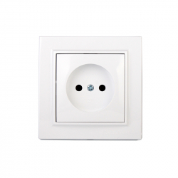 Розетка без заземления Electro House Enzo белая (EH-2108P)