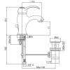 Смеситель для раковины Bianchi Class (LVBCLS2002#IACRO) с донным клапаном