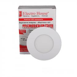 Светильник потолочный Electro House (EH-LMP-1270) LED панель круглая 3вт 4100К Ø85мм 270Lm