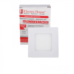 Светильник потолочный Electro House (EH-LMP-3400) LED панель квадратная 3вт 4100К 85х85мм