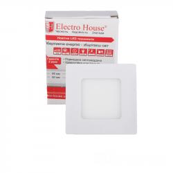 Светильник потолочный Electro House EH-LMP-3400 LED панель квадратная 3вт 4100К 85х85мм