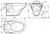 Унитаз подвесной Kolo OVUM by Antonio Citterio L43100000