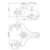 Однорычажный смеситель для ванны Bianchi Class (VSCCLS2004#SKCRM)
