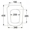 Сидение на унитаз с функцией Soft Closing VILLEROY & BOCH JOYCE 9M52S101