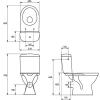 Унитаз-компакт напольный Cersanit MERIDA 011 с сиденьем 020324