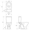 Унитаз-компакт напольный Cersanit 639/658 ARTECO CLEAN ON 011 с сиденьем
