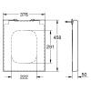 Сиденье с крышкой для унитаза Grohe Cube Ceramic с функцией Soft Closing 39488000