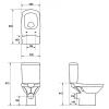 Унитаз-компакт напольный Cersanit Carina Clean On с сиденьем Slim 970948