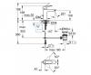 Смеситель для раковины GROHE BAU EDGE с донным клапаном M-Size 23758000