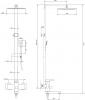 Душевая стойка Imperial 33-1005 (23814)